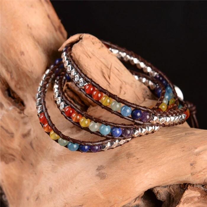 Handmade Rainbow Chakra Bracelet11