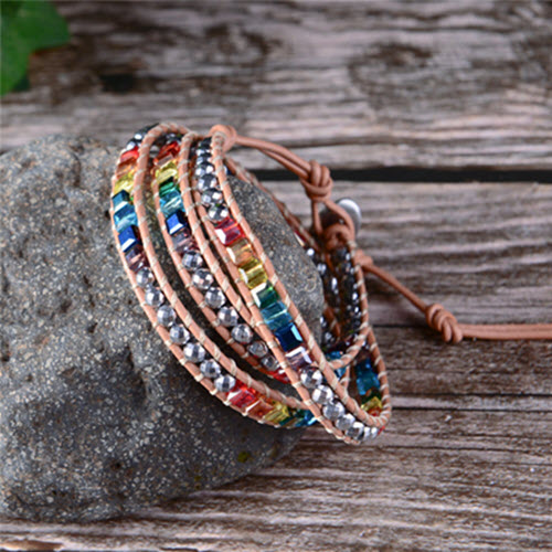Handmade Rainbow Chakra Bracelet8