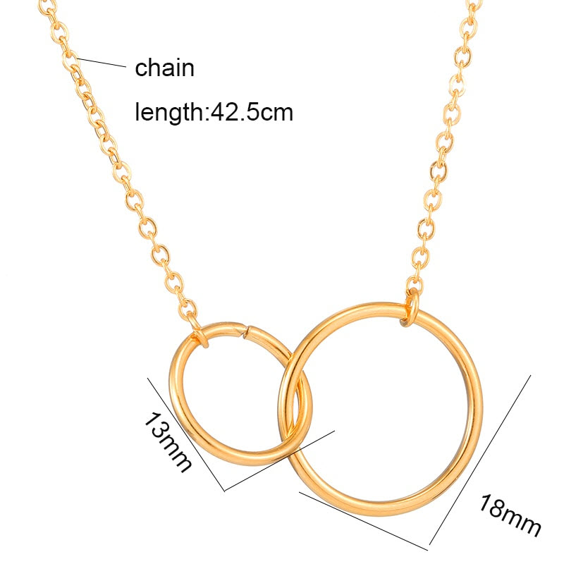Infinity Double Circle Pendant Necklace7