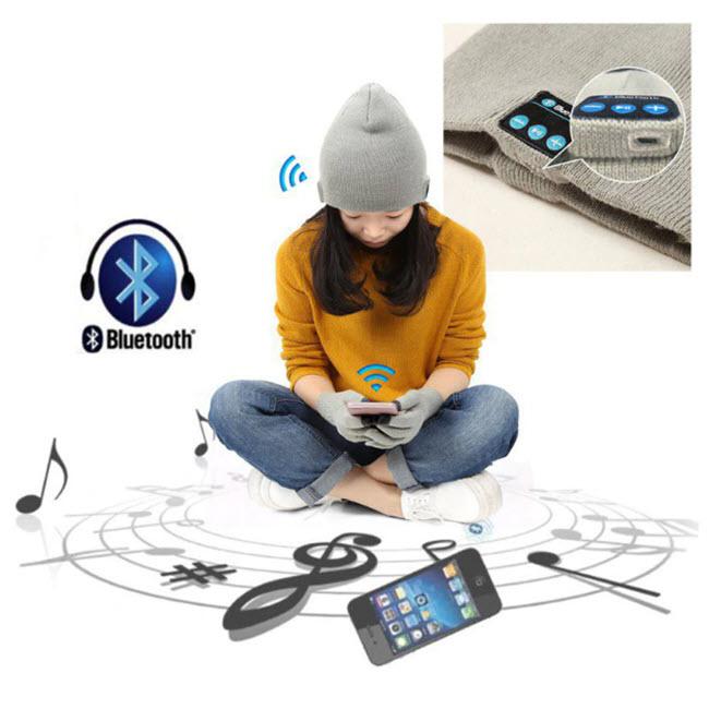 Bluetooth Headphone Winter Hat