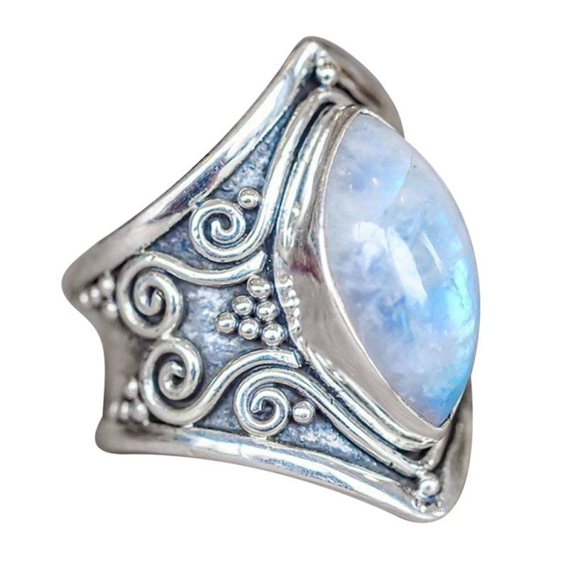 Natural Moonstone 'Full Moon' Ring2