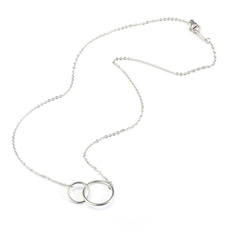 Infinity Double Circle Pendant Necklace5