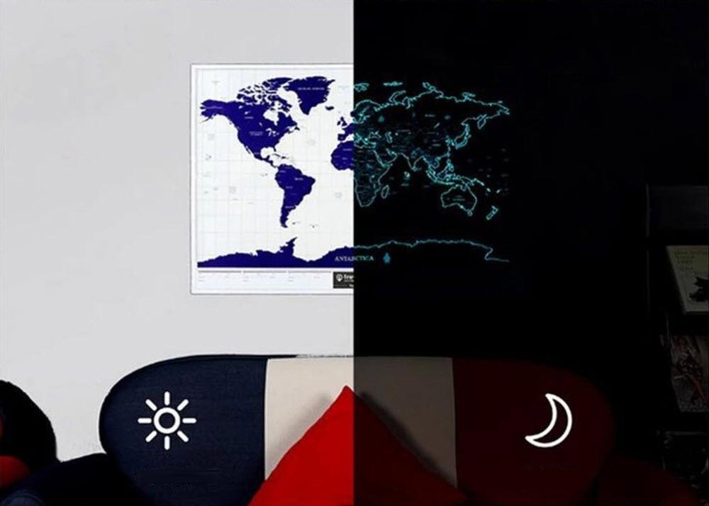 Glow in the dark world scratch map poster glow in the dark scratch map gumiabroncs Gallery