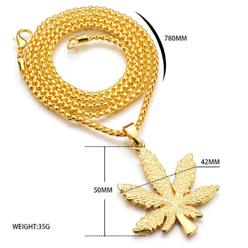 Marijuana Diamond Necklace1