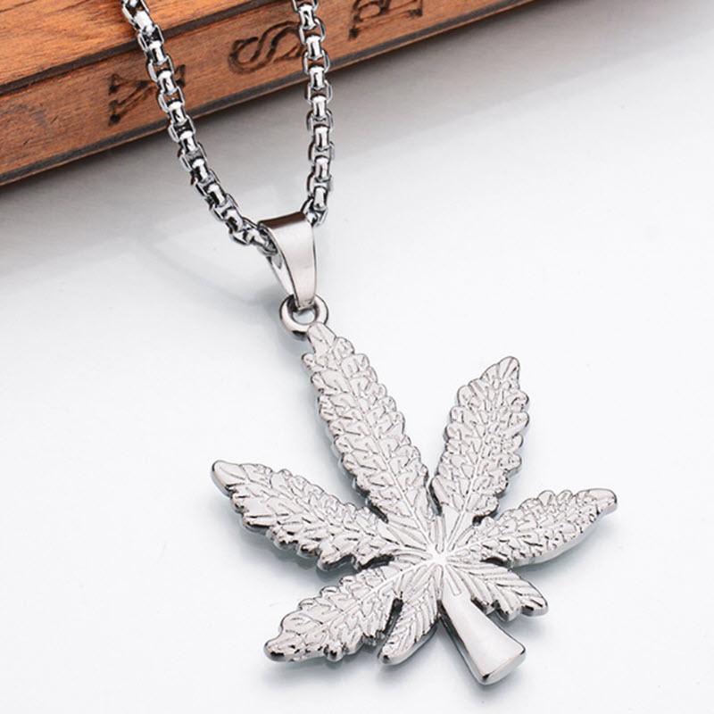 Marijuana Diamond Necklace3