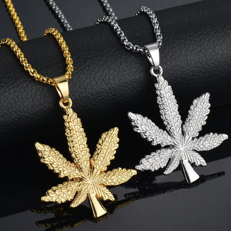 Marijuana Diamond Necklace5