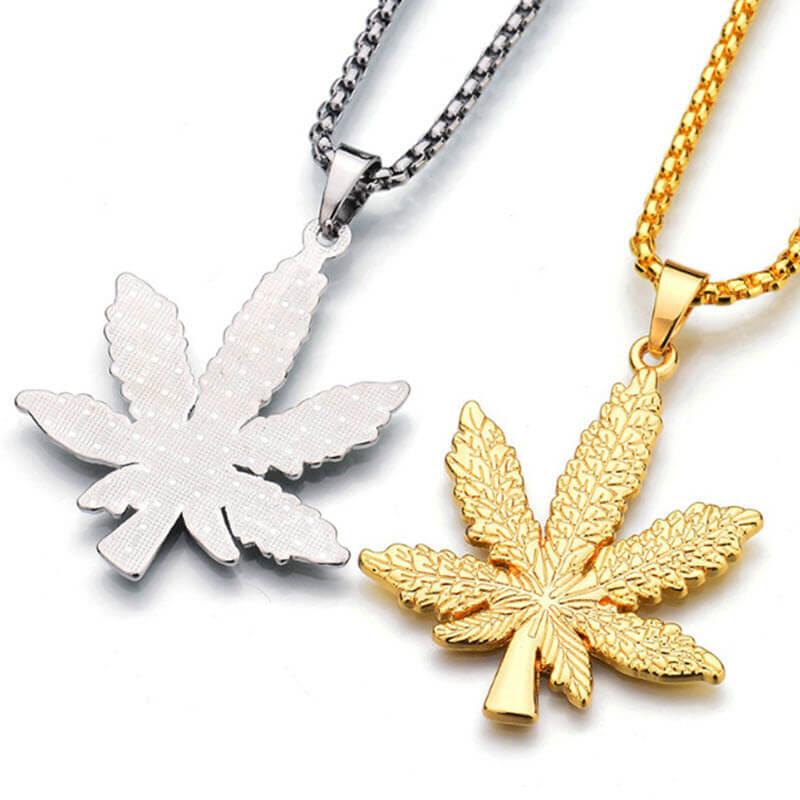 Marijuana Diamond Necklace4