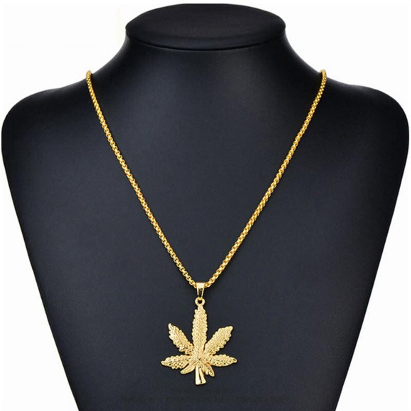 Marijuana Diamond Necklace6