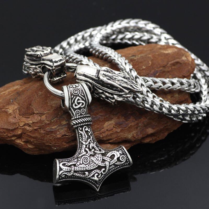 Viking Stainless Steel Thor Hammer Chain17