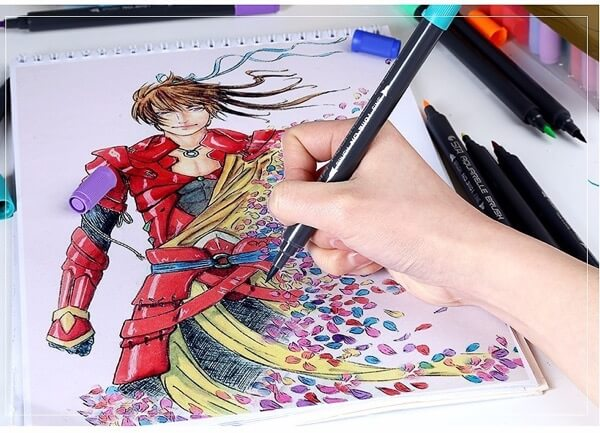 STA Aquarelle Coloring Brush Pens9