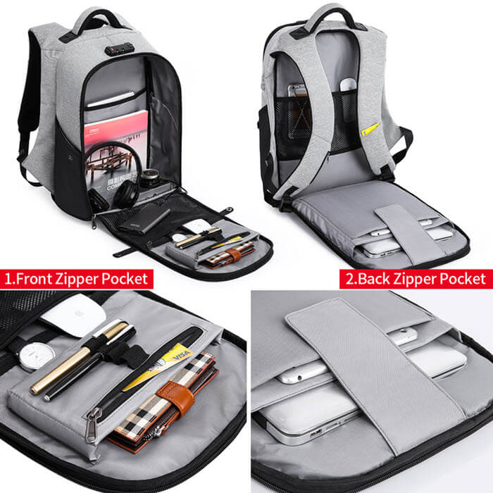 Secutiry Lock USB Backpack2