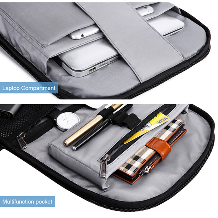 Secutiry Lock USB Backpack9