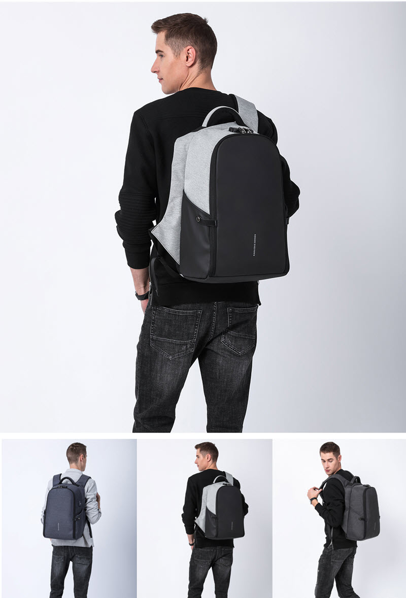 Secutiry Lock USB Backpack18