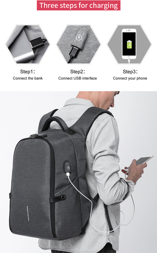 Secutiry Lock USB Backpack22