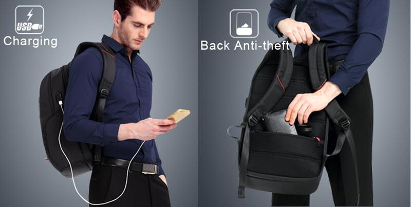 Anti-Theft USB Cushion Backpack2