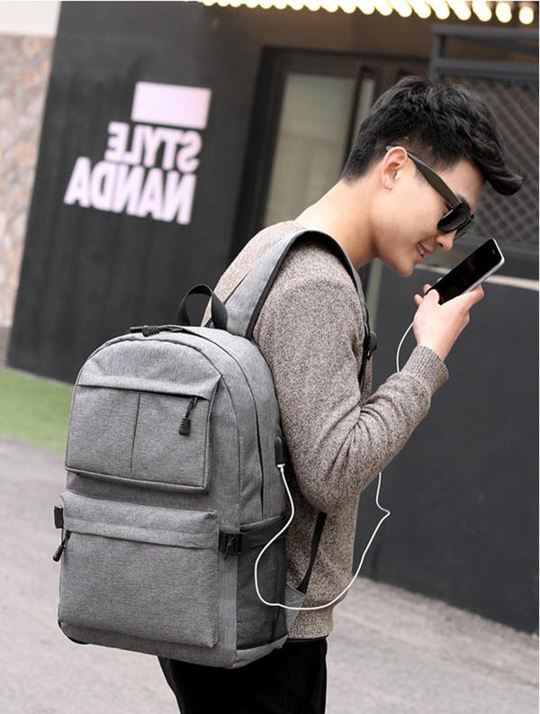 USB School Laptop Backpack15