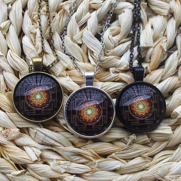 Sacred Sri Yantra Necklace1
