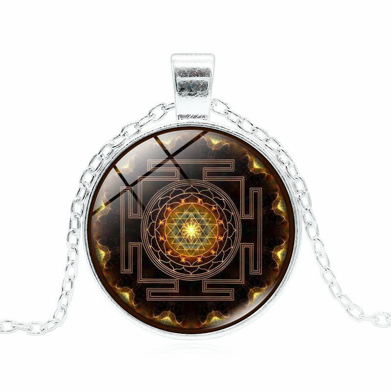 Sacred Sri Yantra Necklace SILVER