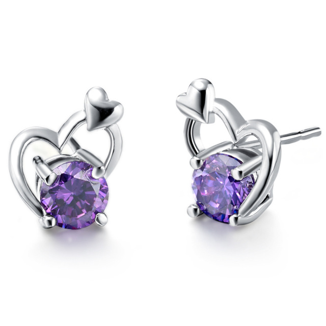 women com amethyst timejewel from for oval product mns silver stone dhgate dangle purple stones s wife earrings new gift