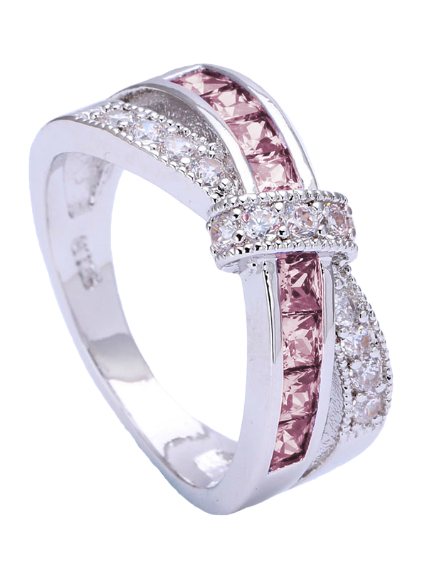 breast awareness tone diamond gold cancer fl pid two ring women rings