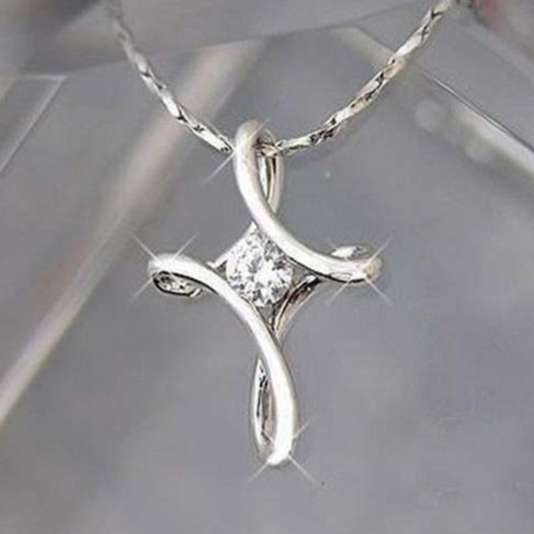 simple chain infinity products cross christian silver pendant jewelry malala collections necklace