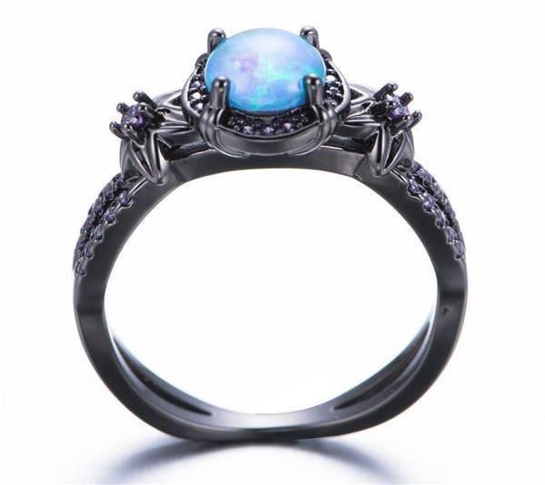 Black Gold Opal Ring