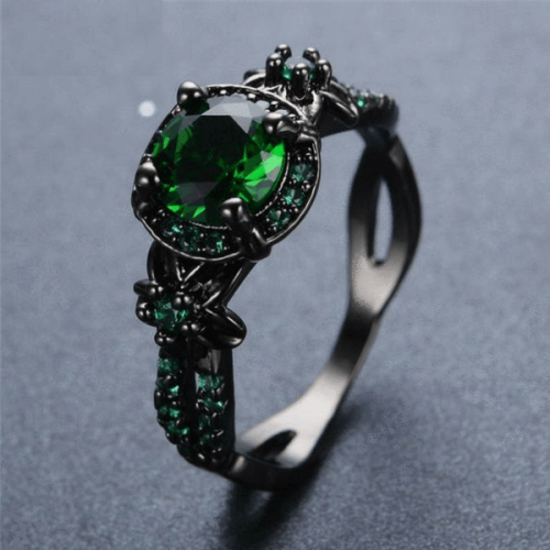The Needed Necklace Black Gold Sapphire Ring
