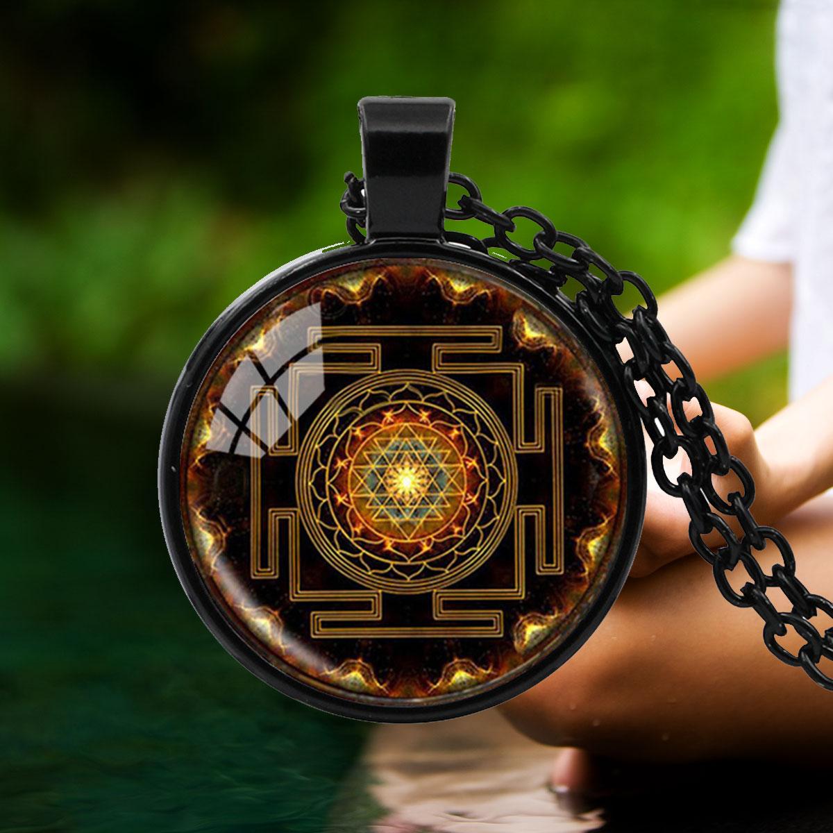 Sacred sri yantra pendant aloadofball Image collections