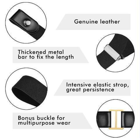 Buckle Free Elastic Belt
