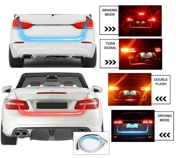 LED Strip Trunk Lights (works with all car types)