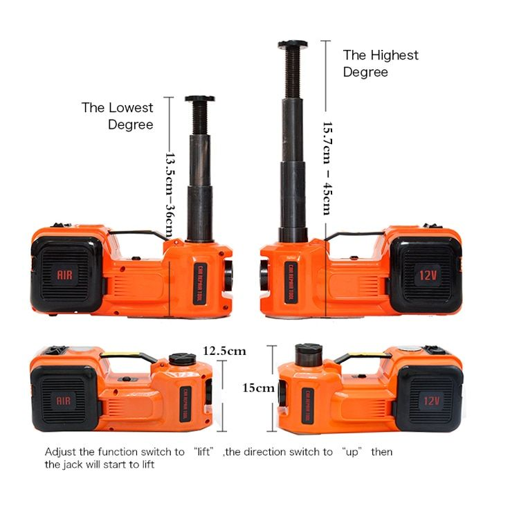 3-IN-1 ELECTRIC HYDRAULIC CAR JACK - PORTABLE & EASY TO USE