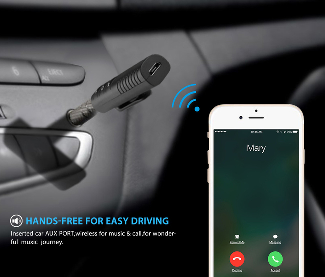 BLU Bluetooth receiver for car