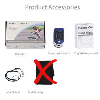 RX Finger Pulse Oximeter comes with convenient carry case and lanyard