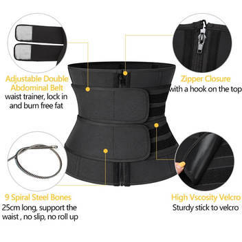 3 layer velcro design to allow adjustable waist size and firm control of tightness and fat compression