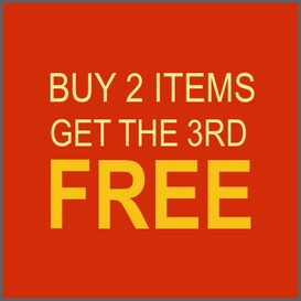 Buy 2 get the 3rd item free