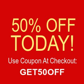 Save 50 percent off today with coupon GET50OFF