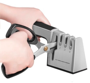 Knife sharpener with scissor and kitchen sears sharpening