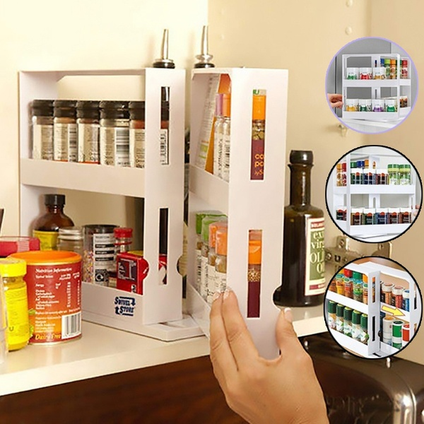 Multi-function Rotating Storage Rack Set
