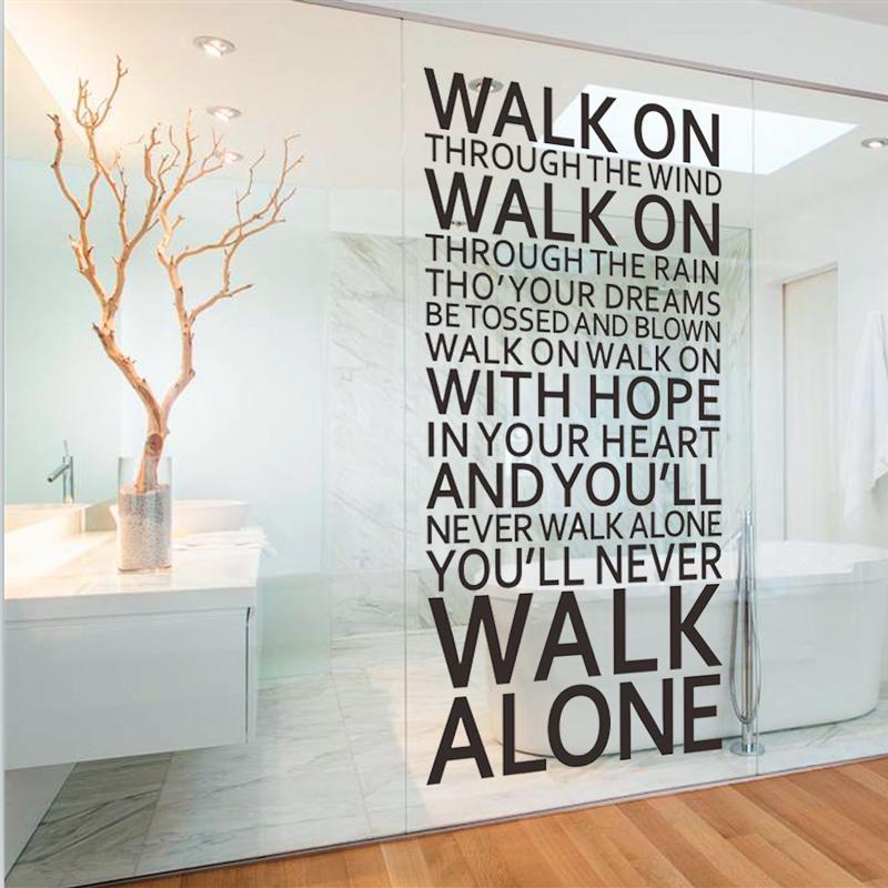 Lyric lyrics you ll never walk alone : You'll Never Walk Alone - Song Lyrics Wall Decal