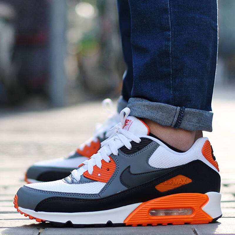 reputable site 4d7e9 449a0 Original Authentic NIKE Men s AIR MAX 90 ESSENTIAL Breathable Running Shoes  Comfortable Professional Outdoor Sports Sneakers