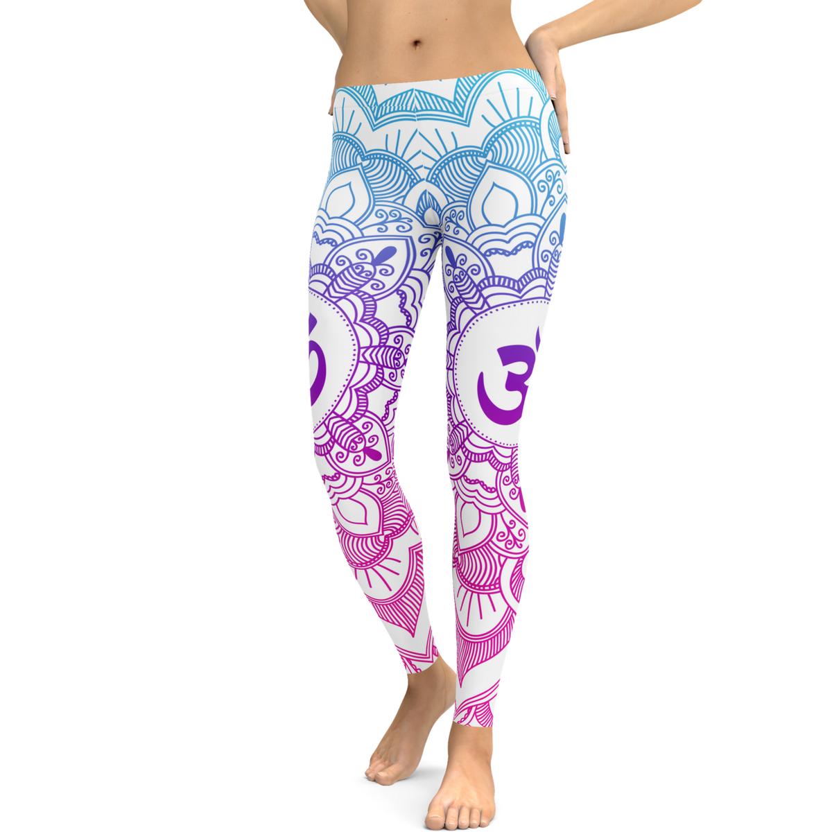 68531c9c72 Womens Yoga Leggings - 3D Printed OM