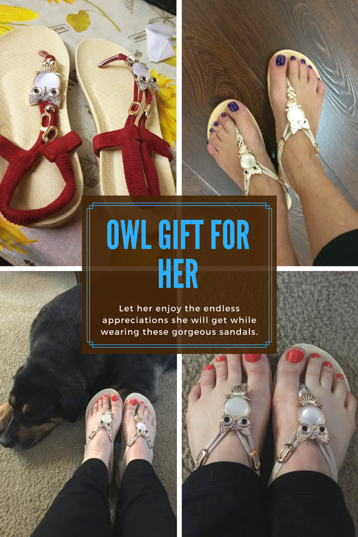 Women Owl Sandals //Owl gift for her// Great Owl Gift// Mother's Day Gift// Owl Gift Ideas for Mother's Day// Gift for Teachers//Special Owl Gift