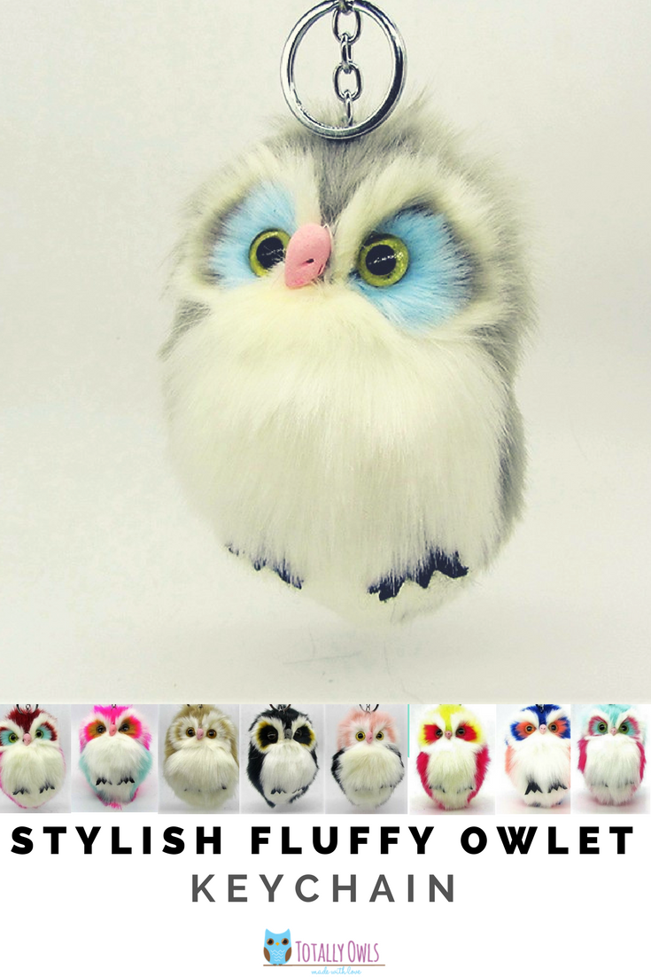 Stylish Fluffy Owlet Keychain // Owl gift for her// Cute fluffy owl gift// Mother's Day gift ideas// Women accessories//