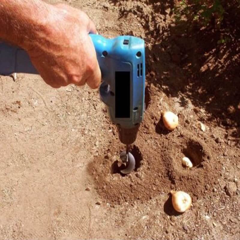 Soil Shover™ - Attach To Drill & Digg4