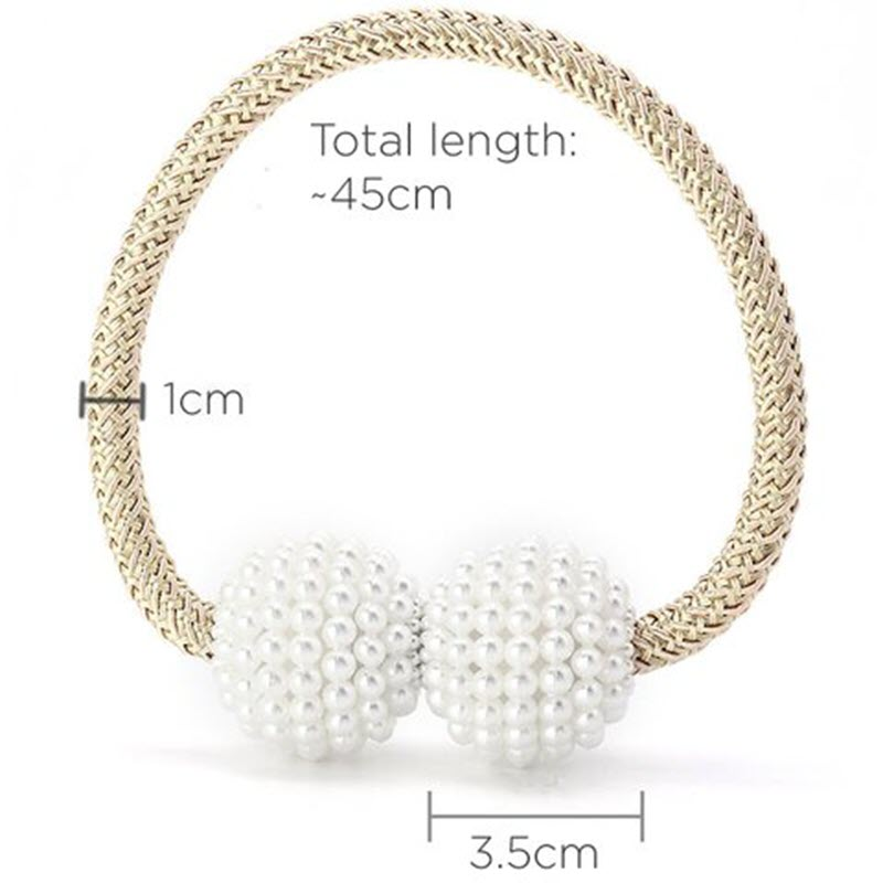 Magnetic Curtain Pearl Buckle