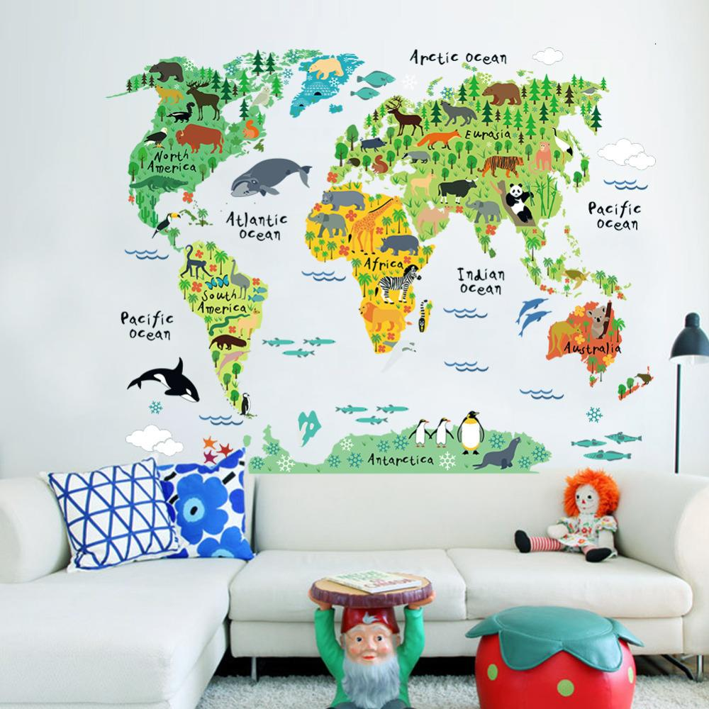 Kids world map decal gumiabroncs Image collections