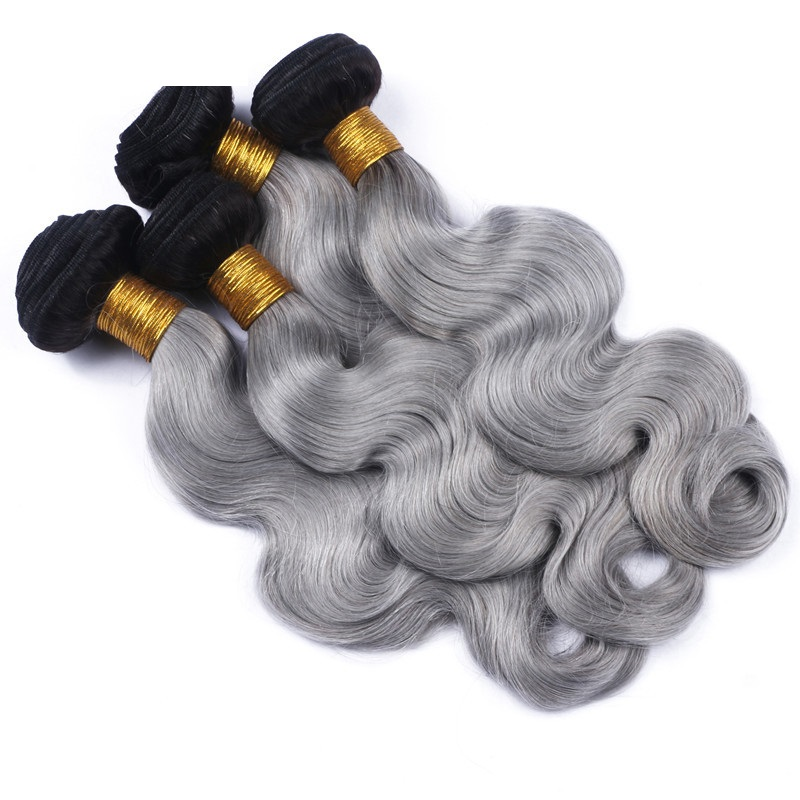 Body wave grey ombre brazilian no remy human hair weave gray body wave grey ombre brazilian no remy human hair weave gray color ombre hair extensions 1 piece solutioingenieria Image collections