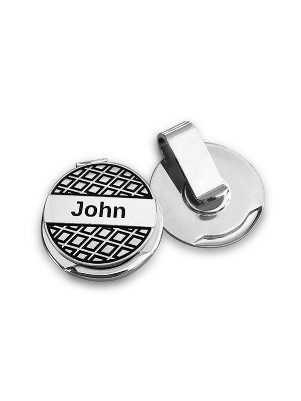 Personalized Golf Ball Marker With Free Magnetic Hat Clip And Divot Tool