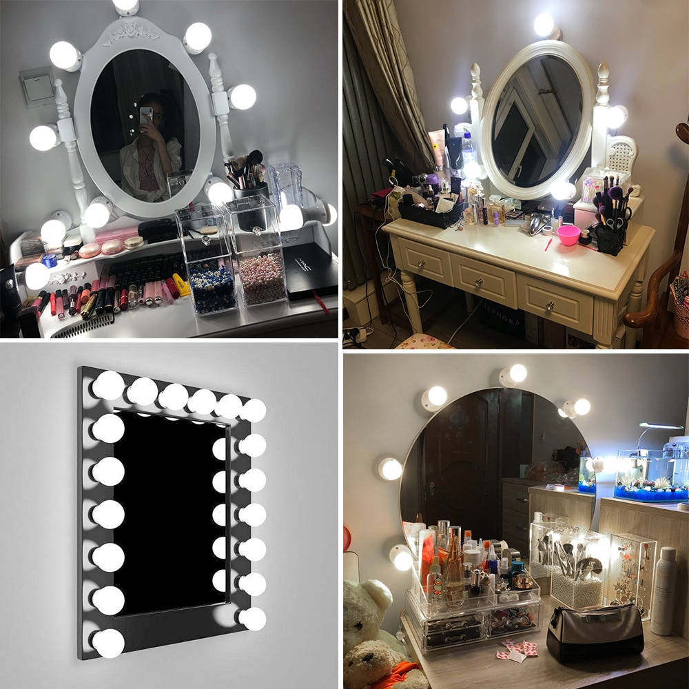 Led Makeup Mirror Light Bulbs Highly Efficient With A Soft Luminous Glow