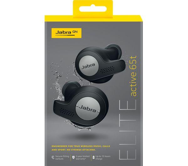 Jabra Elite Active 65t Wireless Bluetooth Headphones Titanium Black